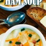 Leftover Ham Soup pin image