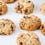 gluten free oatmeal raisin cookies pin image
