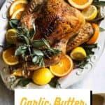 Garlic butter turkey pin image