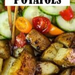 Grilled Potatoes Recipe Pin Image