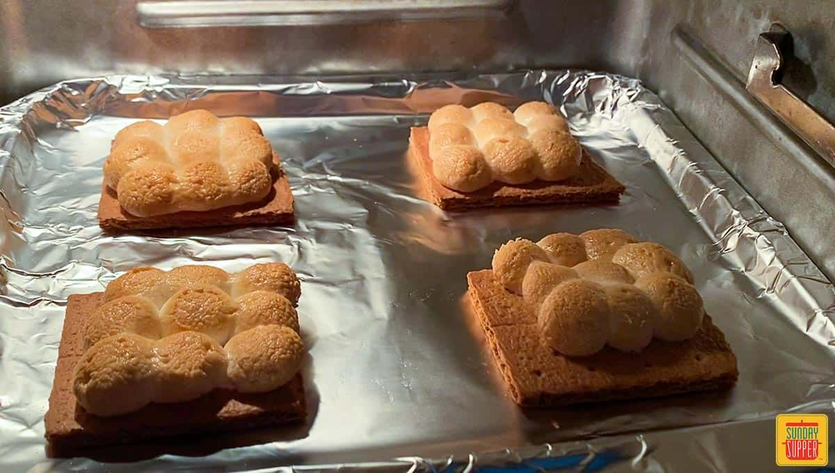 S'mores recipe in the air fryer cooking