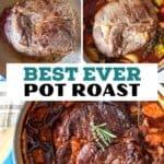 beef chuck roast recipe pin image