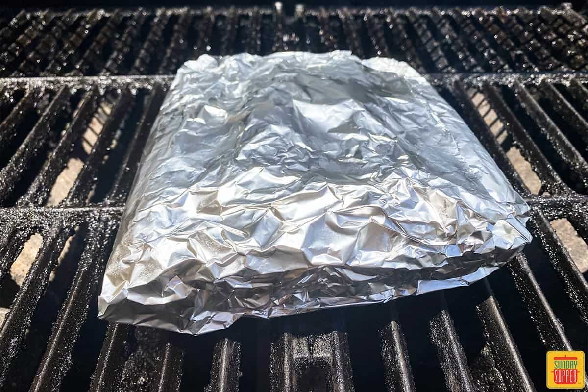 Foil pack corn on the grill cooking