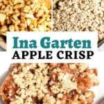 ina garten apple crisp recipe pin image