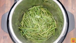 Green beans cooked in the instant pot