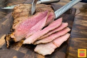 Slicing london broil thinly