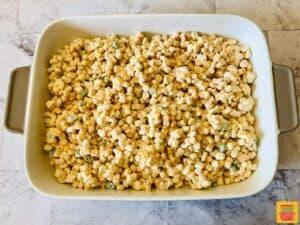 Corn casserole in baking dish
