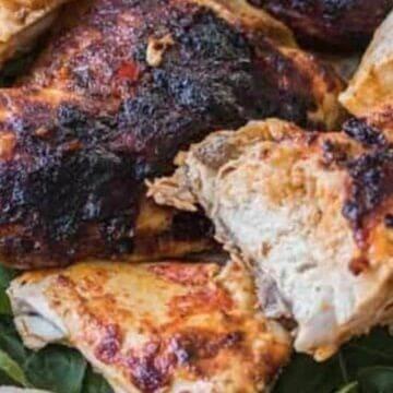 peri peri chicken chopped up
